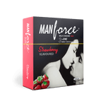 Manforce® Wild Condoms 3 in 1 Strawberry