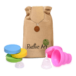 Rustic Art® Collapsible Menstrual Cup